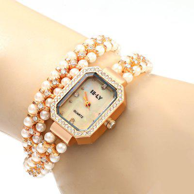 IE-LY 627 Women Pearl Diamond Quartz Watch