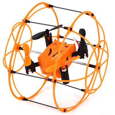 Helic Max Sky Walker 1336 4 Channel 2.4G RC Quadcopter 3D Rollover Copter with Climbing / Walking / Flying Function -  ORANGE