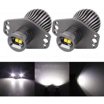 2PCS E90 Metal LED 12 - 24V 10W 6500K 600lm Car Headlight