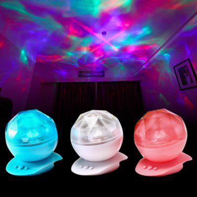 Rotating LED Projection Night Light Diamond Shape