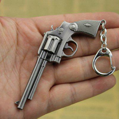 9cm Keyring Pendant Decoration Hand Revolver Metal Key Chain