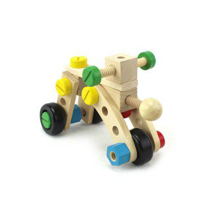 Changeable Nut DIY Building Block Car