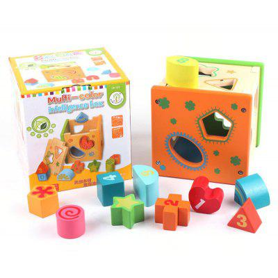 Colorful Intelligence Box with Pattern Block Puzzle Toy Educational Game Kid Gift