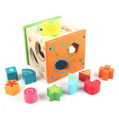 Colorful Intelligence Box with Pattern Block Puzzle Toy Educational Game Kid Gift dayan gem vi cube speed puzzle magic cubes educational game toys gift for children kids grownups