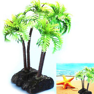 Aquarium Simulation Coconut Trees Shape Ornament