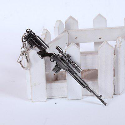 12cm Keyring Pendant Decoration Hand Sniping Rifle Metal Key Chain