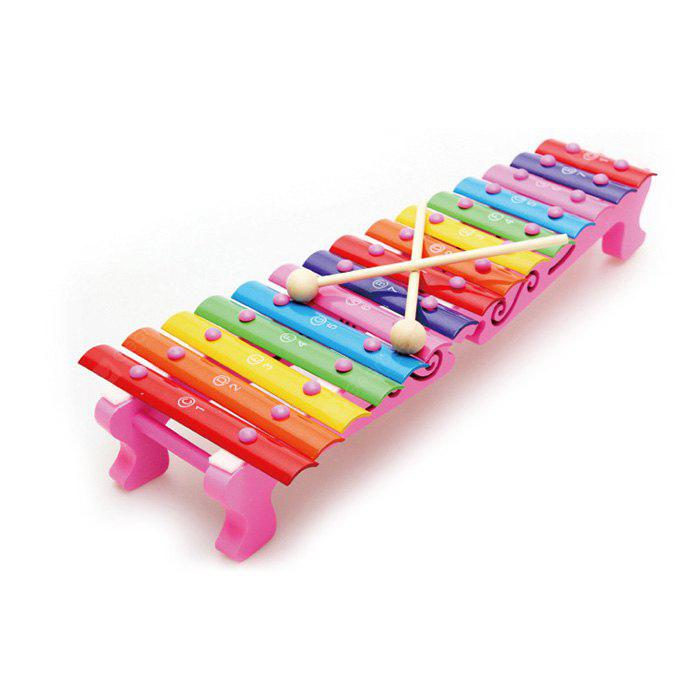 Buy 15 Notes Hand Struck Wooden Xylophone Music Instrument Toy COLORMIX