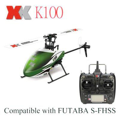 XK K100 Mini 2.4GHz 6CH Built-in Gyro Helicopter RTF Version