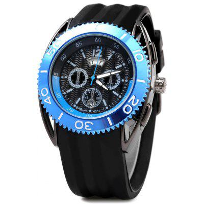 Buy BLUE Bariho H031 Date Day Rotatable Bezel Men Quartz Watch for $14.51 in GearBest store