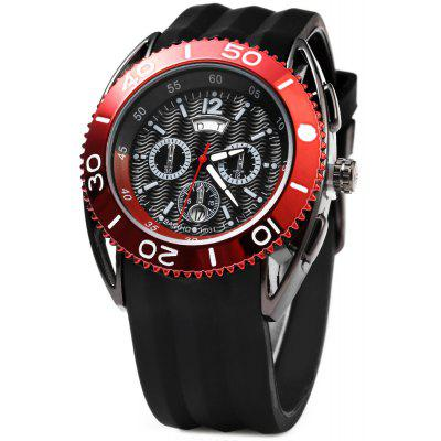 Buy RED Bariho H031 Date Day Rotatable Bezel Men Quartz Watch for $14.51 in GearBest store