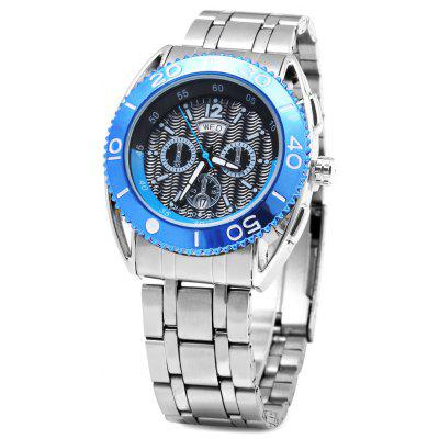 Buy BLUE Bariho H031 Date Day Rotatable Bezel Men Quartz Watch for $16.07 in GearBest store