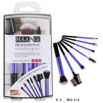 MAANGE MAG-614 7PCS Beauty Brush Soft Cosmetics Powder Makeup Set