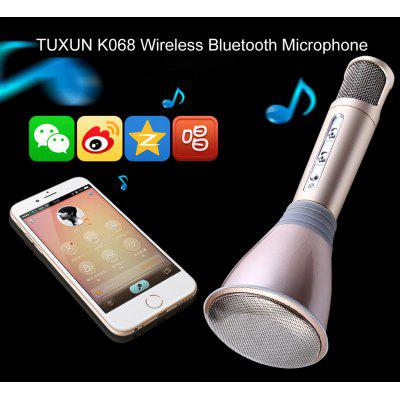 TUXUN K068 Mobile Phone Karaoke Condenser Wireless Bluetooth Microphone