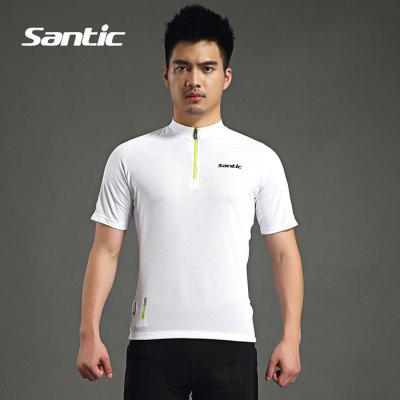Buy WHITE Santic MC02070 Summer Male Cycling Short Sleeves for $29.50 in GearBest store