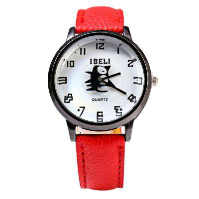 IBELI 802 Black Cat Second Dial Female Quartz Watch Leather BandWomens Watches<br>IBELI 802 Black Cat Second Dial Female Quartz Watch Leather Band<br><br>Available Color: Black,Brown,Red,Rose,White<br>Band material: Leather<br>Band size: 23.7 x 1.7 cm / 9.33 x 0.67 inches<br>Brand: IBELI<br>Case material: Stainless Steel<br>Clasp type: Pin buckle<br>Dial size: 3.5 x 3.5 x 1.1 cm / 1.38 x 1.38 x 0.43 inches<br>Display type: Analog<br>Movement type: Quartz watch<br>Package Contents: 1 x IBELI Female Watch<br>Package size (L x W x H): 24.70 x 5.00 x 2.10 cm / 9.72 x 1.97 x 0.83 inches<br>Package weight: 0.062 kg<br>Product size (L x W x H): 23.70 x 4.00 x 1.10 cm / 9.33 x 1.57 x 0.43 inches<br>Product weight: 0.032 kg<br>Shape of the dial: Round<br>Watch style: Business, Casual, Fashion<br>Watches categories: Female table<br>Wearable length: 17.5 - 21.8 cm / 6.89 - 8.58 inches