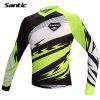 Santic MC02056 Male Cycling Long Sleeves T-shirt - GREEN