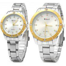 Ktevi K8006 Diamond Scale Couple Japan Quartz Watch