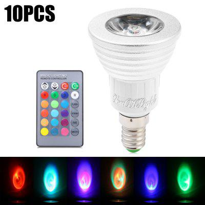 10pcs YouOKLight E14 3W 240Lm 16 Colors RGB LED Spot Bulb