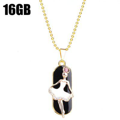 ZP07 Ballet Girl Shape 16GB USB 2.0 Flash Memory