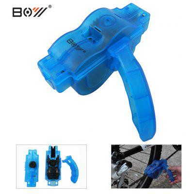 BOY 7083 Bicycle Chain CleanerBike Tools<br>BOY 7083 Bicycle Chain Cleaner<br><br>Brand: Boy<br>Package Contents: 1 x Bicycle Chain Cleaner, 1 x Handle<br>Package Dimension: 13.50 x 5.00 x 9.50 cm / 5.31 x 1.97 x 3.74 inches<br>Package weight: 0.180 kg<br>Product Dimension: 13.00 x 4.00 x 6.50 cm / 5.12 x 1.57 x 2.56 inches<br>Product weight: 0.150 kg