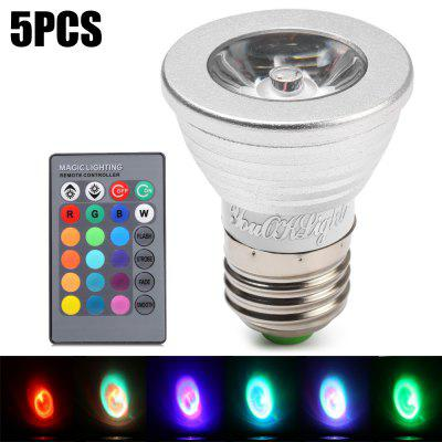 5pcs YouOKLight E27 3W 240Lm 16 Colors RGB LED Spot Bulb