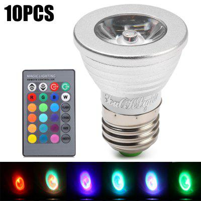 10pcs YouOKLight E27 3W 240Lm 16 Colors RGB LED Spot Bulb