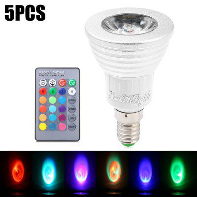 5pcs YouOKLight E14 3W 240Lm 16 Colors RGB LED Spot Bulb
