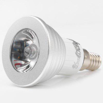 5pcs YouOKLight E14 3W 240Lm 16 Colors RGB LED Spot BulbSpot Bulbs<br>5pcs YouOKLight E14 3W 240Lm 16 Colors RGB LED Spot Bulb<br><br>Angle: 120 degree<br>Available Light Color: RGB<br>Brand: YouOKLight<br>Features: Remote-Controlled, Low Power Consumption, Long Life Expectancy<br>Function: Studio and Exhibition Lighting, Home Lighting, Commercial Lighting<br>Holder: E14<br>Luminous Flux: 240LM<br>Output Power: 3W<br>Package Contents: 5 x YouOKLight LED Spotlight, 5 x Remote Controller<br>Package size (L x W x H): 9.00 x 16.50 x 11.00 cm / 3.54 x 6.50 x 4.33 inches<br>Package weight: 0.380 kg<br>Product size (L x W x H): 8.00 x 4.80 x 4.80 cm / 3.15 x 1.89 x 1.89 inches<br>Product weight: 0.042 kg<br>Sheathing Material: PC, Aluminum Alloy<br>Total Emitters: 1<br>Type: Spot Bulbs<br>Voltage (V): AC 90-240