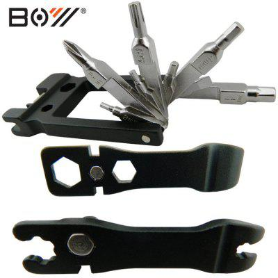 BOY 8036 Multi-purpose 19-in-1 Bicycle Repairing Tool