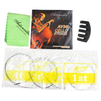 Astonvilla 3 in 1 Steel Wire String Cleaning Cloth Rubber Sourdine for Cello