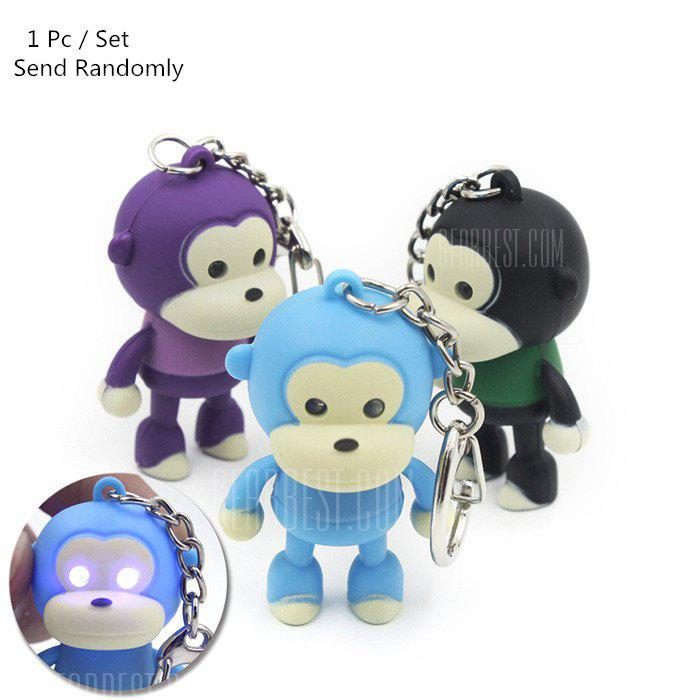 Monkey Keyring Pendant Decoration ABS Key Chain with Light / Sound Movie Product