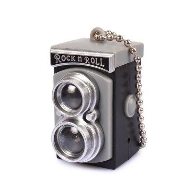 Retro Flash Camera ABS Key Chain Flashlight Sound Keyring for Hanging Decoration Gift