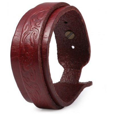 37.5mm Buckle Long Wrist Decorative Leather Strap