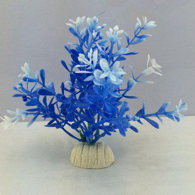 Artificial Blue Water Plant Aquarium Decoration Fish Tank Decor