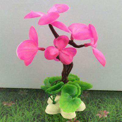 Artificial Flower Shape Aquarium Decoration Fish Tank Decor
