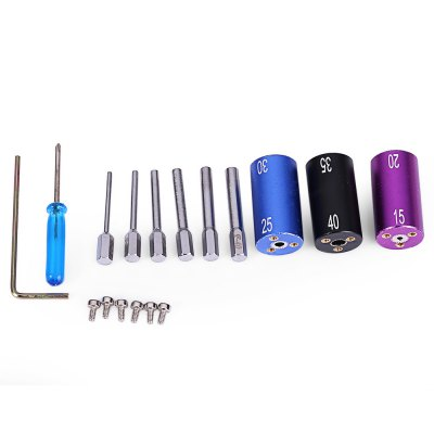 DIY 6-in-1 Magic Stick CW Coil Winder KitVapor Tools<br>DIY 6-in-1 Magic Stick CW Coil Winder Kit<br><br>Accessories type: DIY Tool Kit<br>Material: Aluminum, Plastic, Stainless Steel<br>Package Contents: 1 x Coil Winder, 1 x Tweezers, 1 x Hexagon Wrench, 1 x Scissor, 1 x Screwdriver, 3 x Cap, 6 x Coiling Pin, 6 x Screw<br>Package size (L x W x H): 12.40 x 6.00 x 3.40 cm / 4.88 x 2.36 x 1.34 inches<br>Package weight: 0.142 kg<br>Product weight: 0.100 kg<br>Type: Electronic Cigarettes Accessories
