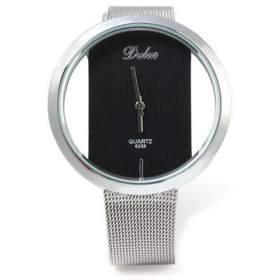 Dalas 6256 Transparent Dial Male Quartz Watch Steel Net StrapMens Watches<br>Dalas 6256 Transparent Dial Male Quartz Watch Steel Net Strap<br><br>Available Color: Silver<br>Band material: Steel<br>Band size: 22.5 x 1.5 cm / 8.86 x 0.59 inches<br>Brand: Dalas<br>Case material: Stainless Steel<br>Clasp type: Pin buckle<br>Dial size: 4.0 x 4.0 x 1.1 cm / 1.57 x 1.57 x 0.43 inches<br>Display type: Analog<br>Movement type: Quartz watch<br>Package Contents: 1 x Male Watch<br>Package size (L x W x H): 23.50 x 5.20 x 2.10 cm / 9.25 x 2.05 x 0.83 inches<br>Package weight: 0.082 kg<br>Product size (L x W x H): 22.50 x 4.20 x 1.10 cm / 8.86 x 1.65 x 0.43 inches<br>Product weight: 0.052 kg<br>Shape of the dial: Round<br>Watch style: Fashion<br>Watches categories: Male table<br>Wearable length: 18.0 - 20.5 cm / 7.09 - 8.07 inches