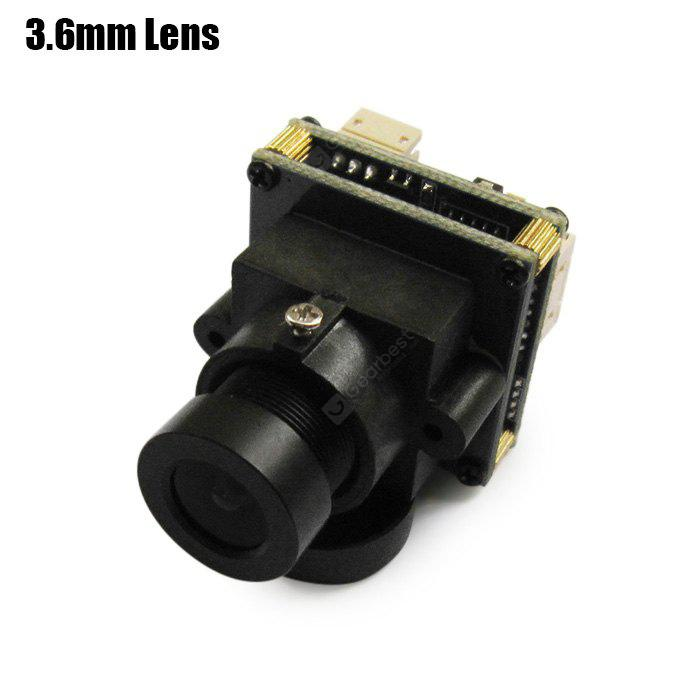 BLACK Spare EFFIO 673 700TVL HD 3.6mm Lens Camera for Helicopter QAV250 210 RC Multicopter FPV Project NTSC Format
