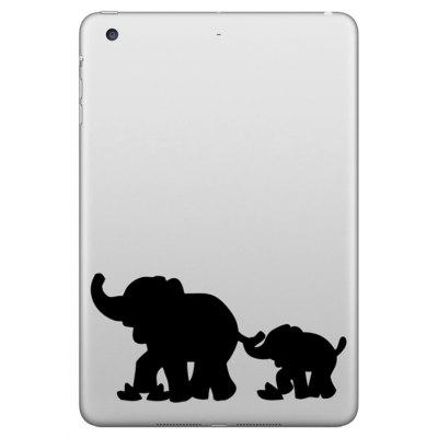Hat-Prince Removable Decorative Skin Sticker for iPad Mini with Elephant Design
