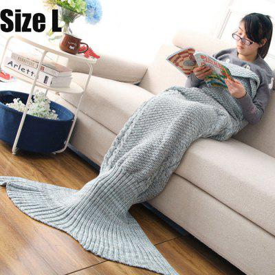 Mixture Crocheted / Knitted Mermaid Tail Blanket