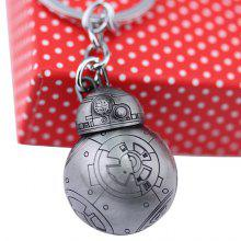 BB - 8 Zinc Alloy Robot Style Hanging Key Chain