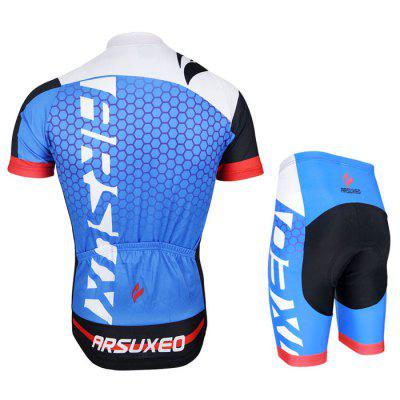 Arsuxeo ZSS52 Men Breathable Cycling Short Sleeve SuitCycling Clothings<br>Arsuxeo ZSS52 Men Breathable Cycling Short Sleeve Suit<br><br>Brand: Arsuxeo<br>Color: Black,Blue,Red<br>Package Contents: 1 x Short Sleeve, 1 x Short Pants<br>Package size (L x W x H): 35.00 x 25.00 x 5.00 cm / 13.78 x 9.84 x 1.97 inches<br>Package weight: 0.480 kg<br>Product weight: 0.450 kg<br>Size: L,M,XL,XXL,XXXL<br>Suitable Crowds: Men<br>Type: Short Sleeves Cycling Suit