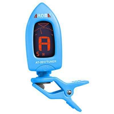 AROMA AT - 201 Portable Clip-on Electric Tuner Backlit Screen for Guitar Chromatic Ukulele Bass
