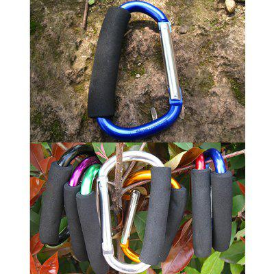 Buy BLUE AOTU AT7607 Quick Release D shaped Carabiner Buckle for Outdoor Camping Hiking for $3.60 in GearBest store