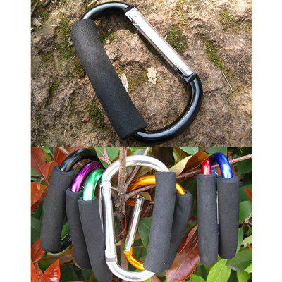 Buy BLACK AOTU AT7607 Quick Release D shaped Carabiner Buckle for Outdoor Camping Hiking for $3.60 in GearBest store