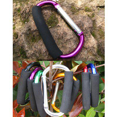 Buy PURPLE AOTU AT7607 Quick Release D shaped Carabiner Buckle for Outdoor Camping Hiking for $3.60 in GearBest store
