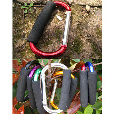 Buy RED AOTU AT7607 Quick Release D shaped Carabiner Buckle for Outdoor Camping Hiking for $3.60 in GearBest store