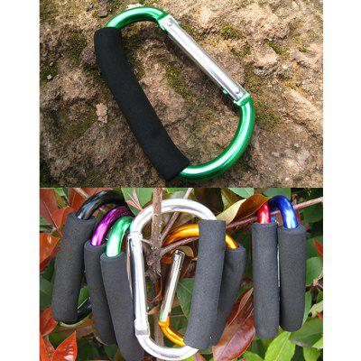 Buy GREEN AOTU AT7607 Quick Release D shaped Carabiner Buckle for Outdoor Camping Hiking for $3.60 in GearBest store