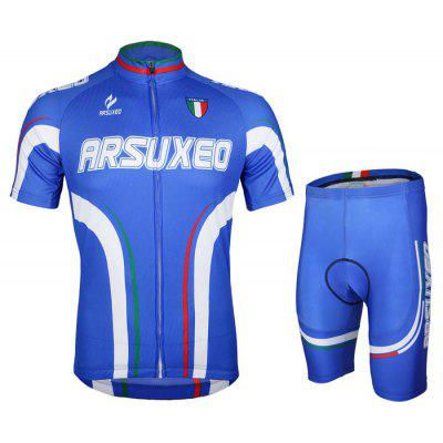 Arsuxeo ZSS54 Men Cycling Short Sleeve Suit