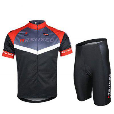 Arsuxeo C04 Men Quick-drying Cycling Short Sleeve Suit